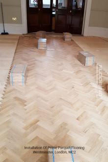 Installation of prime parquet flooring in Westminster 1