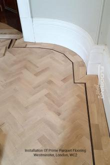 Installation of prime parquet flooring in Westminster 2