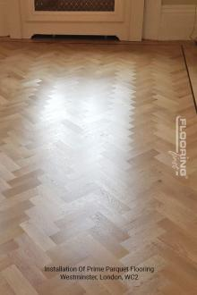 Installation of prime parquet flooring in Westminster 3