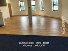 Laminate floor fitting project in Kingston 2