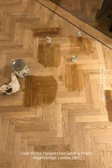 Louis Vuitton floor sanding project in Knightsbridge 2