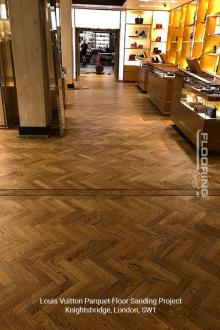 Louis Vuitton floor sanding project in Knightsbridge 4