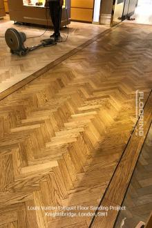 Louis Vuitton floor sanding project in Knightsbridge 5