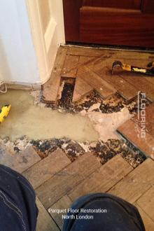 Parquet flooring restoration in North London