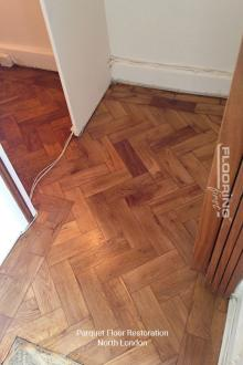 Parquet flooring restoration in North London 2