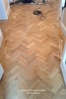Parquet flooring restoration in North London 3