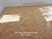 Oak parquet blocks installation in East London 2