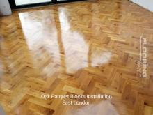 Oak parquet blocks installation in East London 3