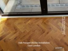 Oak parquet blocks installation in East London 4