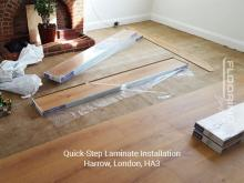 QuickStep laminate installation in Harrow