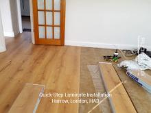 QuickStep laminate installation in Harrow 1