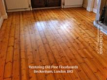 Restoring old pine floorboards in Beckenham 2