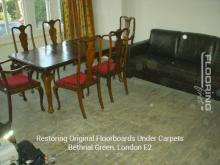 Restoring original floorboards in Bethnal Green