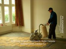 Restoring original floorboards in Bethnal Green 1