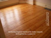 Restoring original floorboards in Bethnal Green 2