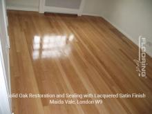Solid oak restoration and sealing with lacquered satin finish in Maida Vale 2