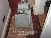 Solid wood flooring restoration in Fulham
