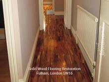 Solid wood flooring restoration in Fulham 1