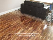 Solid wood flooring restoration in Fulham 2