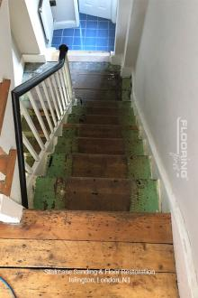 Stairs sanding & floor restoration in Islington