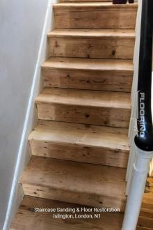 Stairs sanding & floor restoration in Islington 2