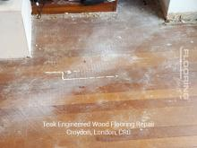 Teak engineered flooring repair in Croydon