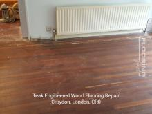 Teak engineered flooring repair in Croydon 1