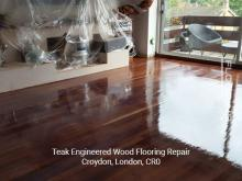 Teak engineered flooring repair in Croydon 2