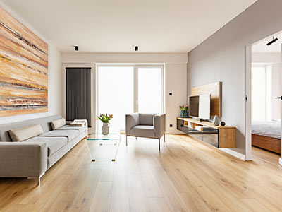 White oak flooring - contemporary look