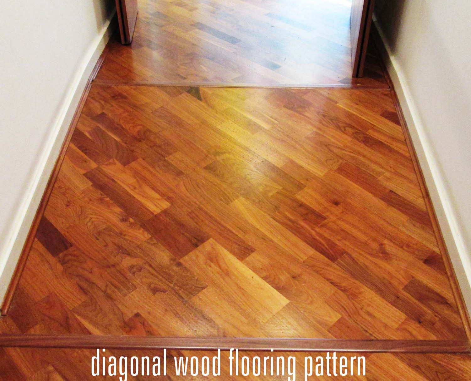 diagonal wood floor pattern