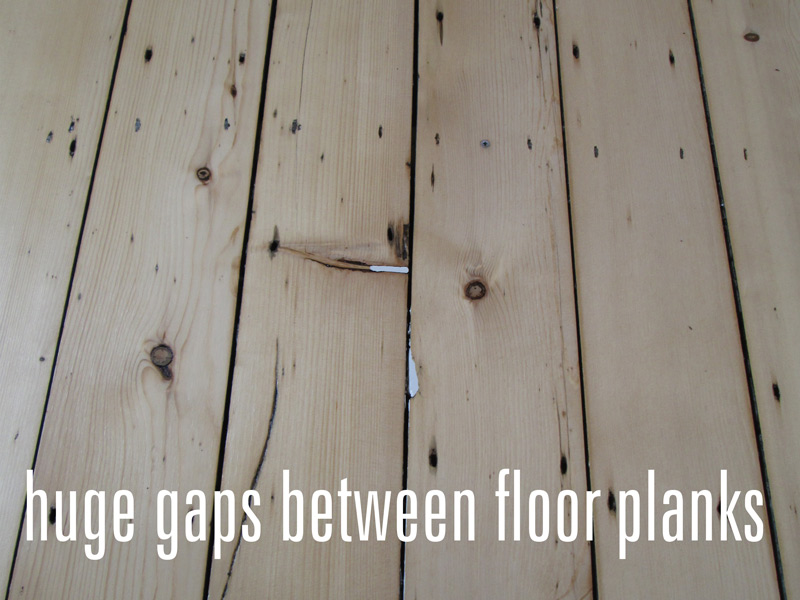 Huge gaps between wood planks
