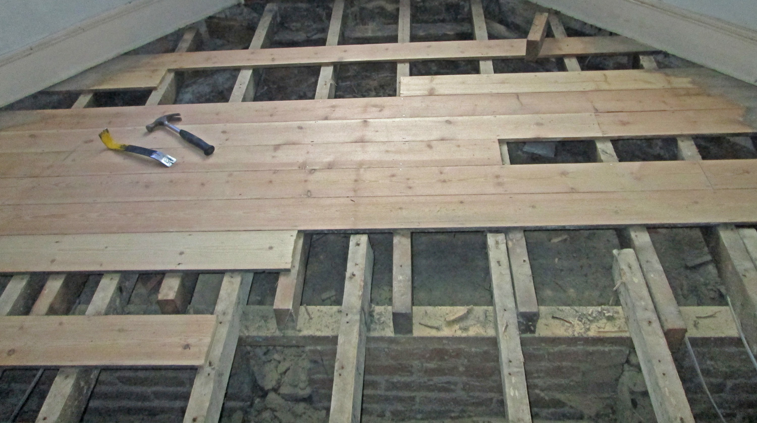 How To Install Hardwood Floors Directly Over Joists Wood