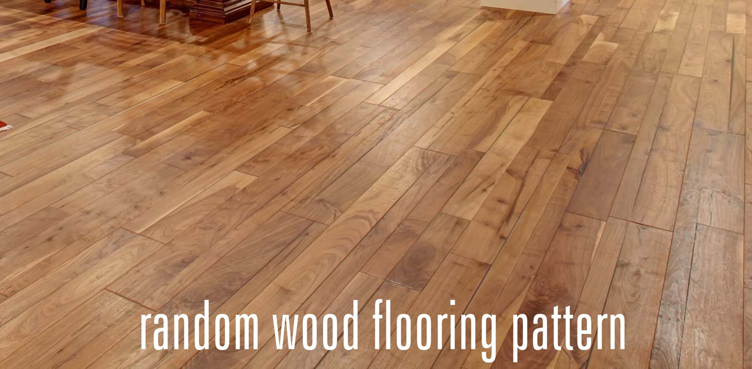 random patten wood flooring