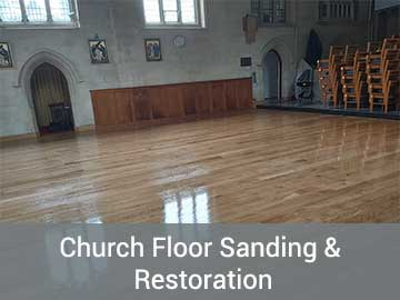 church sanding and restoration