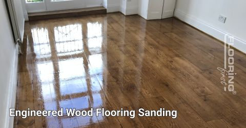 Engineered wood flooring sanding & reoiling