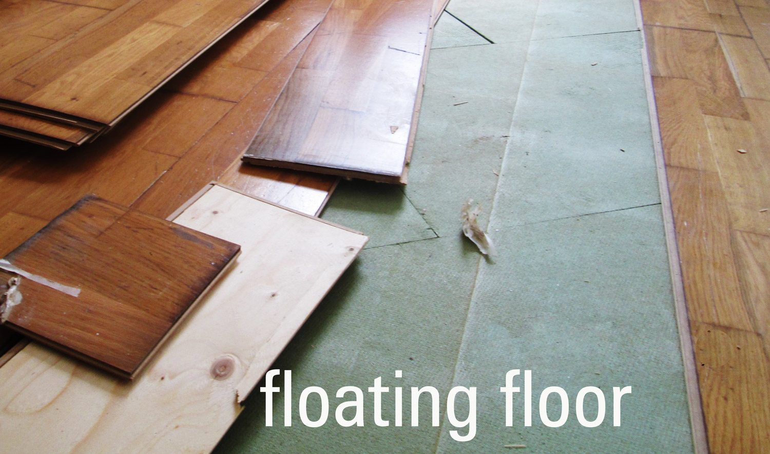 Floating Floor. Floating Floor In Live. o Install n Overlap ... - ^
