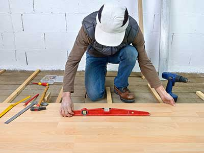Installation of a new wooden floor