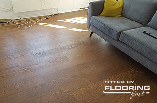 precisely fitted brown solid wood flooring