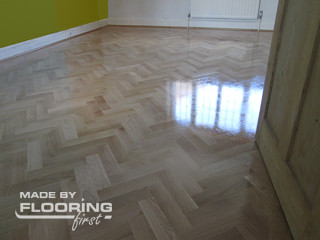 Floor fitting project in Southwest London