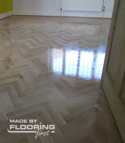 Floor refinishing project in Kingston