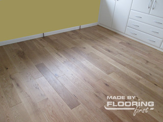 Floor refinishing project in Soho