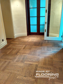 Floor refinishing project in Osterley