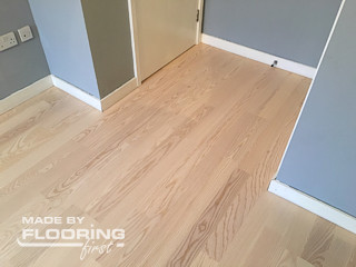 Floor refinishing project in West London