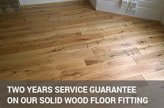 solid wood installation service with 2 years guarantee