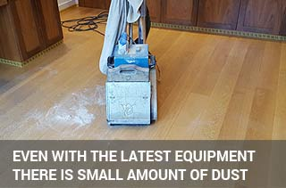 the sanding equipment can't capture the dust entirely