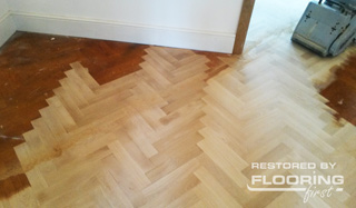 Parquet blocks resurfacing process