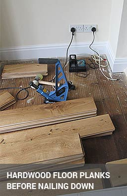 nailing down hardwood flooring
