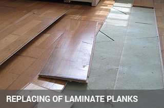Repairs of laminate flooring