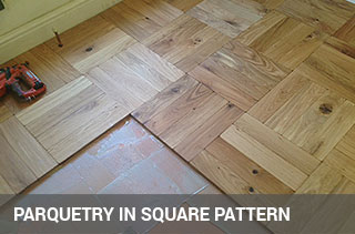 Parquet Blocks Layed In Square Basket Pattern