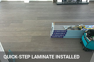 quick-step laminate installed